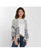 Pieces Strickjacke pcBisla Poncho grau