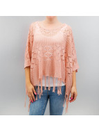 Pieces Strickjacke pcBirgit Poncho rosa