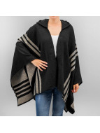 Pieces Strickjacke pcPolly Poncho schwarz