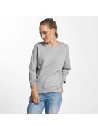 Pieces pcNomma 3/4 Sweatshirt Light Grey Melange