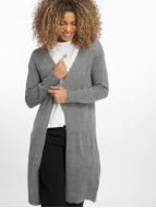Pieces Swetry rozpinane pcJane Long Wool szary