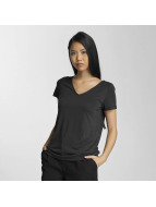 Pieces T-Shirt pcSiw V-Neck schwarz