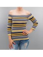 Pieces Tričká dlhý rukáv PCJamilla 3/4 Off Shoulder žltá