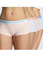 Pieces Underkläder pcLogo 4-Pack färgad