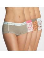 Pieces Underkläder pcLogo 4-Pack vit