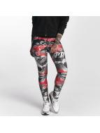 Pro Violence Streetwear Leggingsit/Treggingsit Camo Skull punainen