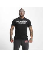 Pro Violence Streetwear T-shirts Oldschool Hardknocker sort