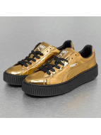 Puma Сникеры Basket Platform Metallic золото