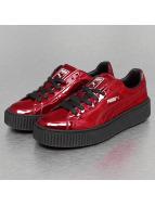Puma Сникеры Basket Platform Metallic красный