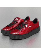 Puma Baskets Basket Platform Metallic rouge