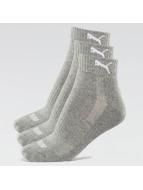 Puma Chaussettes 2-Pack Cushioned Quarters gris