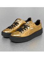Puma Sneaker Basket Platform Metallic goldfarben