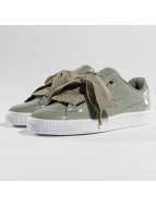 Puma sneaker Basket Heart Patent grijs