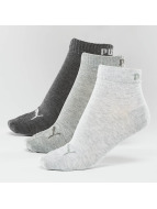 Puma Socks 3-Pack Quarters gray