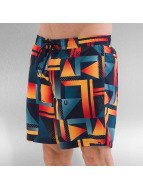 Quiksilver Boxer da mare Check Remix Volley 17 blu