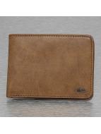 Quiksilver portemonnee Slim Vintage II bruin