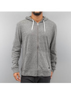 Quiksilver Sweat à capuche zippé Lake Wind gris