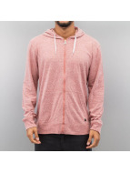 Quiksilver Sweat à capuche zippé Lake Wind rouge