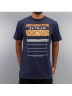Quiksilver T-Shirt Stringe blau