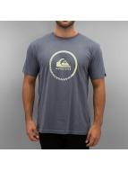 Quiksilver T-Shirt Active Logo blau