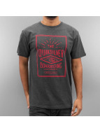 Quiksilver T-Shirt Double Lines Heather grau