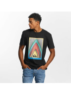 Quiksilver T-Shirt Premium East Stacked noir