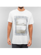 Quiksilver T-Shirty Slub Split Screen bialy