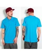 Raw Blue Poloshirt Basic Solid türkis