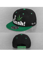 Raw Blue Snapback Cap I Love Kush schwarz