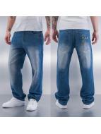 Raw Blue Spodnie Baggy Adub Logo niebieski