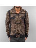 Red Bridge Cardigan Pocket marrone