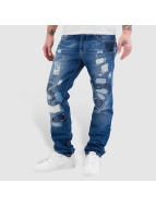 Red Bridge Jeans Straight Fit Patches bleu