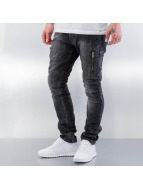 Red Bridge Jeans straight fit Crazy II nero