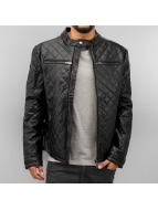 Red Bridge Lederjacke Quilted schwarz