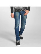 Red Bridge Slim Fit Jeans Washed blau