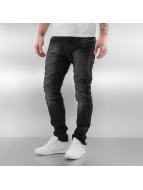 Red Bridge Slim Fit Jeans Quilted schwarz