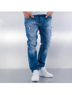 Red Bridge Straight Fit Jeans Destroyed blå
