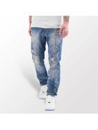 Red Bridge Straight Fit Jeans Stitched blau