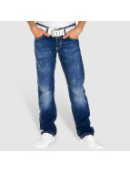 Red Bridge Straight Fit Jeans Stitched blau