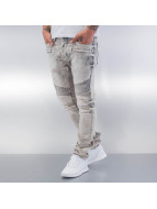 Red Bridge Straight Fit Jeans Dirrty Biker grå