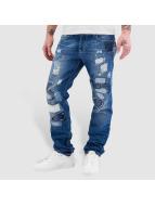 Red Bridge Straight Fit Jeans Patches modrý