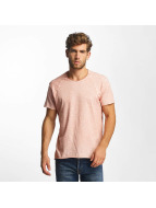 Red Bridge T-Shirt Flamed Frame Vintage Used-Look rosa