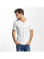 Red Bridge T-shirts Rhinestone Skull hvid