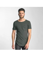 Red Bridge Leather Rivets T-Shirt Dark Olive