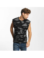Red Bridge Tank Tops Contrast Effect Camouflage Pixel czarny