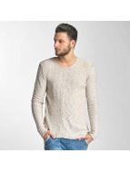 Red Bridge Asymmetrical Line Sweatshirt Beige
