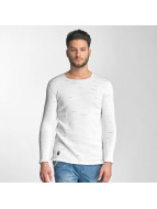 Red Bridge Knit Sweatshirt White
