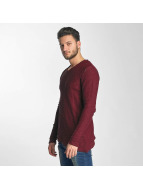 Red Bridge Asymmetrical Line Sweatshirt Bordeaux