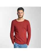 Red Bridge Knit Sweatshirt Bordeaux