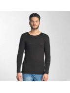 Red Bridge Knit Sweatshirt Black